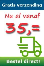 Gratis verzending vanaf 35 euro